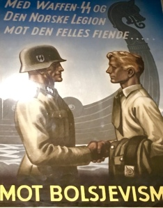 Posters like these fostered fear of the Russians, ensuring that Germany and Norway could win against the common foe. Don't you just love the Viking ship in the background subtly implying that they're continuing a common ancestral tradition?