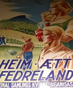 Despite propaganda like this ad for the Nasjonal Samling women's organization, less than 2% of Norwegians joined Quisling's fascist and eventually Nazi party.