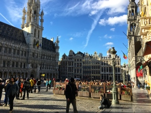 A view of the Grand Place (Grote Markt).