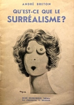 The poster features the typical double-entendres often found in surrealist art.