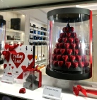 A chocolate pyramid of hearts crafted by Pierre Marcoline was just one of the holiday offerings. We also sampled the wares of Godiva, Neuhaus, Galler, and Leonidas Chocolatiers. After all, we didn't want anyone to feel left out.