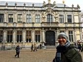 Matthew admires the 17th-century Baroque Provost's Palace.