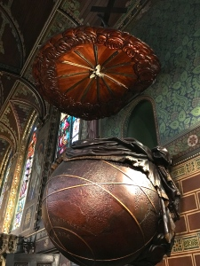 Look's like it's tailor-made for Michael Jordan. It's supposed to be a globe, but I'm thinking more like Globetrotters.