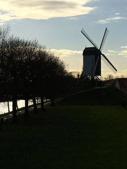 On our way home, I had to snap another shot of the classic windmill silhouette.