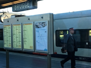Belgium has a fabulous modern train system. Just wish the timetables reflected reality a bit more. by the way, in Flemish, Bruges is spelled Brugge.