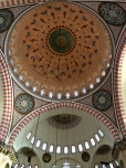 The central dome has a span of 90 feet and has been embedded with open earthenware jars to enhance the acoustics.