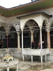I'm taking some downtime next to the pool at the Baghdad Pavilion, where Ibrahim the Mad used to chillax after a hard day of drowning all 280 members of his harem (so the story goes.)