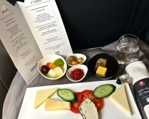 Check out the menu and fabulous delicacies offered aboard Turkish Airlines -- Yum!