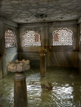 The little courtyard fountain, with its graceful interior, is no longer used for ablutions.