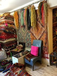 "The interior of Bilgin Hali (""Hali"" means ""rug"" in Turkish.)"