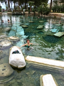 How awesome is this? Getting to frolic and swim amongst the ruins?