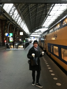 Have coffee, will travel -- and it's only 15 minutes to Haarlem from Amsterdam via train. The time doubles in a car.
