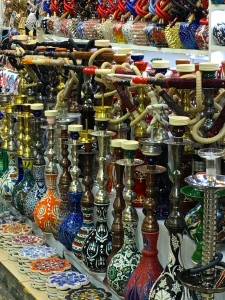 Hookahs, originally invented by the Persians, are a permanent fixture in any tourist shop.