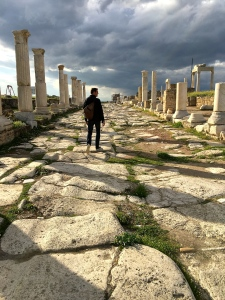 The main street leading east-west to Ephesus is lined with colonnades for shops and temples.