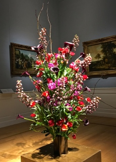 Another spectacular floral display looks like it has stepped right out of a Dutch Master's painting.