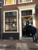 Most every door in Haarlem sported a garland made of daffodil and hyacinth heads.