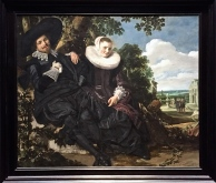 I'm a recent convert to Frans Hals, mostly due to his ability to capture jollity and frivolity in an age that we typically think of as fairly puritanical. Take this wedding portrait, for instance. Most painters of the day made a marriage look like a business contract, but these two people seem like they're having a blast together.