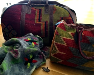 A smattering of the gorgeous and affordable items we snagged at Heritage Nomadic Arts Gallery.