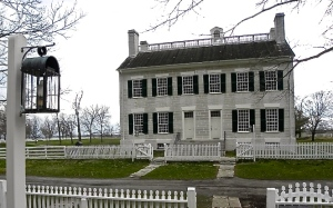 """Shaker Village of Pleasant Hill isn't farm from my hometown of Lexington, Kentucky. I spent lots of time here growing up, and at our wedding, I had hammer dulcimer players perform the song """"Simple Gifts"""" as a tribute to my family roots."""