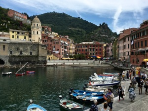 Vernazza has the only natural harbor, which is dotted with cute fishing boats and a few tiny tourist cruisers. The other towns have more creative strategies for accessing the sea.