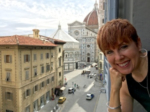 The night before our flight back to Oslo, we splurged for a room with a fairy-tale view of the Baptistry, the Duomo, Brunelleschi's Dome, and Giotto's Tower.