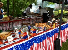 Grilled burgers, dogs, and McDonald's French fries -- what could be more American?
