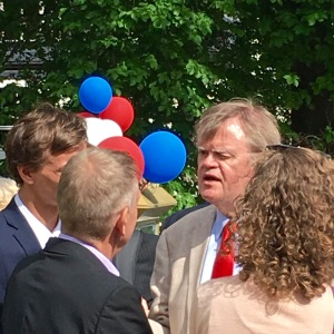 "Keillor's Mark Twain quote, ""God created war so the Americans would learn geography"" got a big laugh, as our warmongering, lack of global awareness, and inability to identify other countries on a map is a huge joke across Europe."