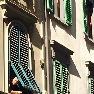 Lesson #1 learned in Florence: take time to window gaze and admire the view from your own living room.