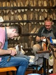 These two men are true cobblers, fashioning hand-made shoes custom fit for their clients.