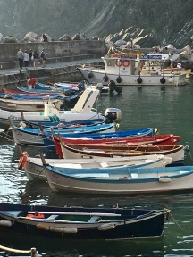 """Fisherman make a living supplying the day's catch to restaurants, who pride themselves on their """"antipasti ai frutti di mare"""" (fruit of the sea, prepared like a ceviche -- unbelievable!) You can also book one of the town's small tour boats for an afternoon cruise along the five coastal villages."""