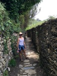 Corniglia is well-known for its wines, and we passed lots of rock-walled fences enclosing grape arbors.