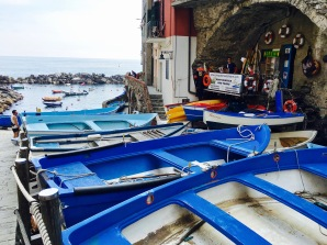 The fishermen's boats are small but quite pretty. One guy told us that the color blue was considered good luck and would protect sailors.