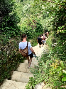 Matthew joins the end of the line on a death march down one of the many steep staircases we encountered on the trek to Monterosso al Mare.
