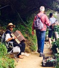 It can't have been easy to have toted an accordion along the steep trail.