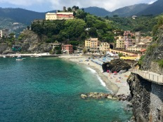 "Monterosso is the most ""resort-y"" of all the Cinque Terre towns. It has a sandy beach instead of rocks, for a change of pace. You'll have to pay for the beach chairs and umbrellas, but it's worth it for a seaside view and easy access into the water."