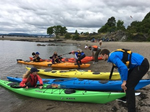 A gorgeous beach let us practice our disembarkation skills -- and is also the site where foodie kayak tours stop to make their beachside dinners.