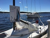 Kids could also try out a dingy or a stand-up paddle board. And the Norwegian Sailing Federation had a J/70 keelboat on hand to introduce active keelboat sailing. This model can be purchased on an installment plan of just 400 kroner (around 50 bucks) per month.