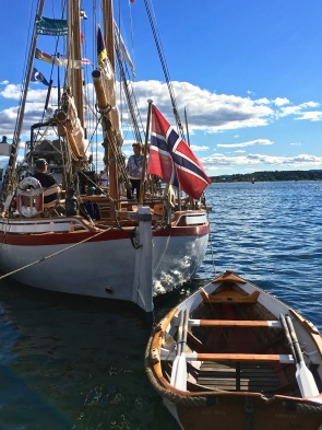 "Volunteers from the Norwegian Maritime Museum greeted visitors aboard the RS ""Colin Archer"" and told stories about the rescue boat. Built in 1893, it's credited with saving the lives of 274 people, rescuing 67 vessels from total loss, and giving assistance to another 1,522 vessels."