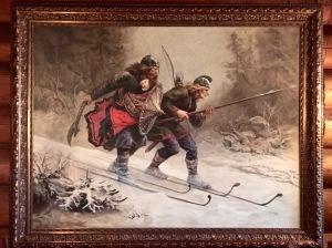 Birkebeinerne by Knud Bergslien