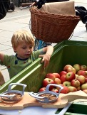 The apple harvest is a big deal in Norway. Many places bottle apple juice and sell it like wine at restaurants, each farm with its own special brew. Candied apples are a standard Christmas treat, too.