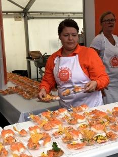 Salmon prepared ten different ways -- all were yummy.