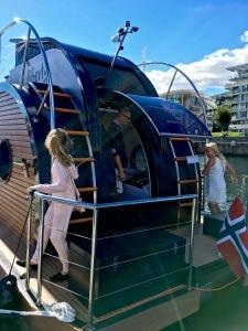 Nautilus Scandinavia's Liberty houseboat, Oslo boat show.