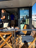 Just a quick pic of the Liberty houseboat's awesome front deck / kitchen dinette area. I could see myself trading in our condo for summer living aboard this cutie. If only it weren't for that pesky floating part.