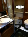 One of the two posh bathrooms. Our condo bathroom isn't even this fab.