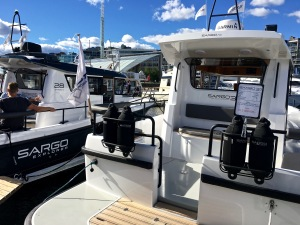 Sargo Explorer 28 and 31, Oslo Boat Show, Aker Brygge