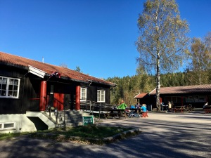 "No matter what pathway you take in the Østmarka, you'll eventually come upon the Mariholtet Sportsstue. It's one of many ""sports cabins"" where trekkers, cyclists, and skiers can refuel during their excursions. I like how Norwegians think: all roads lead to food."