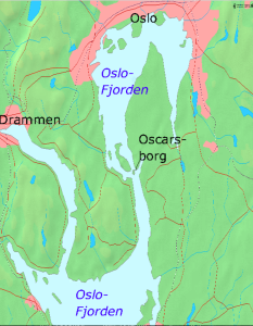This Google map gives you an idea of the strategic position of Oscarsborg Fortress, sitting as it does at the end of the narrow Drøbak Straight. The German fleet had to squeeze past it to get to Oslo's harbor.