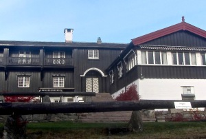 "Built in 1927 and rebuilt in 1928 after a fire, Østmarkseteren has been run by the Engblom family since 1946. (PS, the word ""seteren"" means ""summer pasture."")"