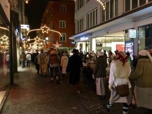 Shepherds in Luzern Nativity Procession