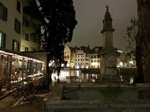 Luzern Christmas Lights & Reuss River